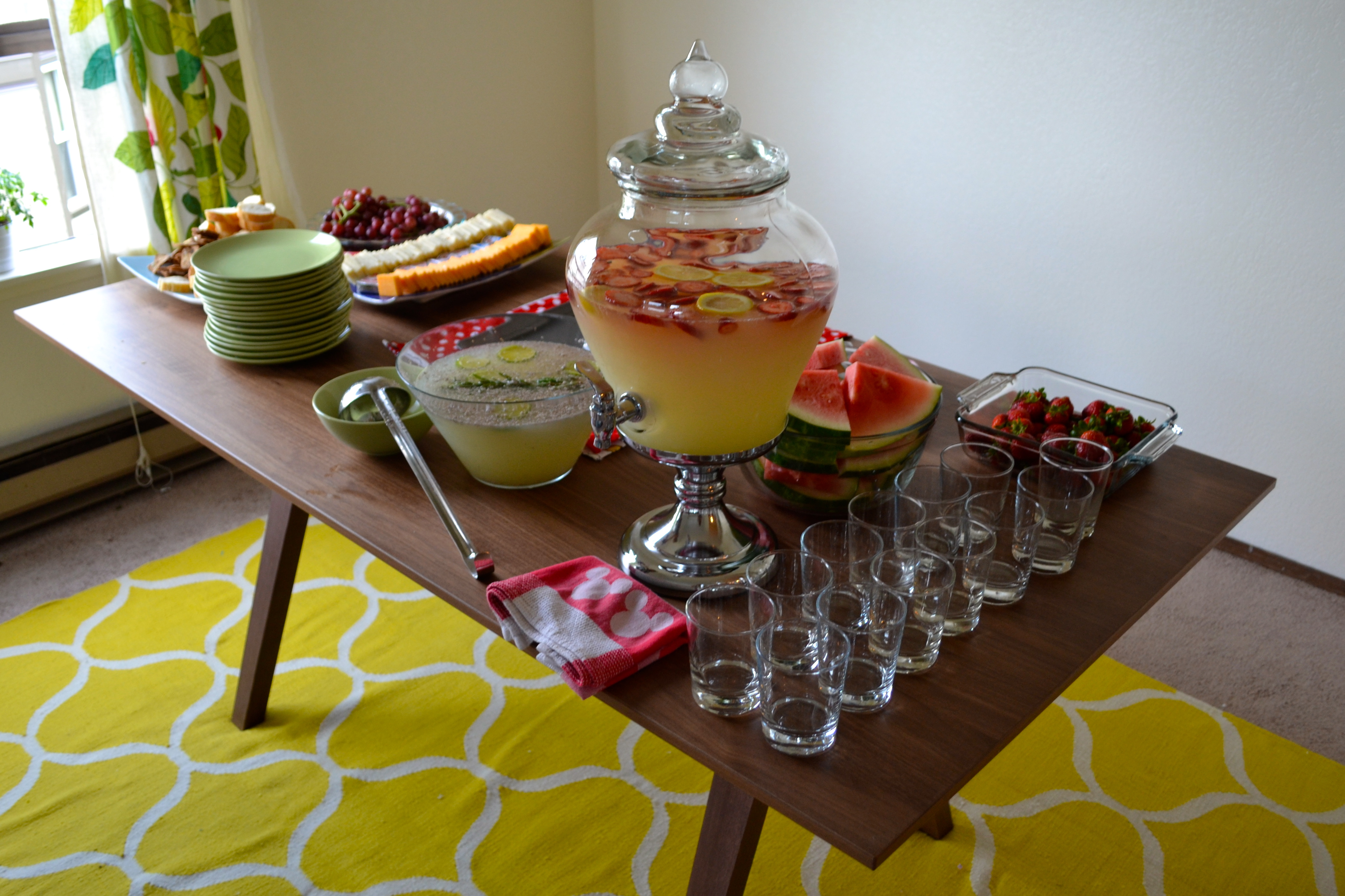 housewarming party food drinks table strawberry lemonade mostly enjoyed charge coming dsc
