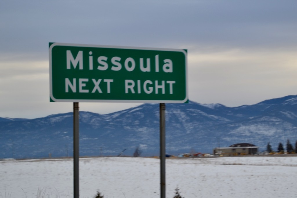 Missoula: a college town which is surprisingly hip and has some great restaurants