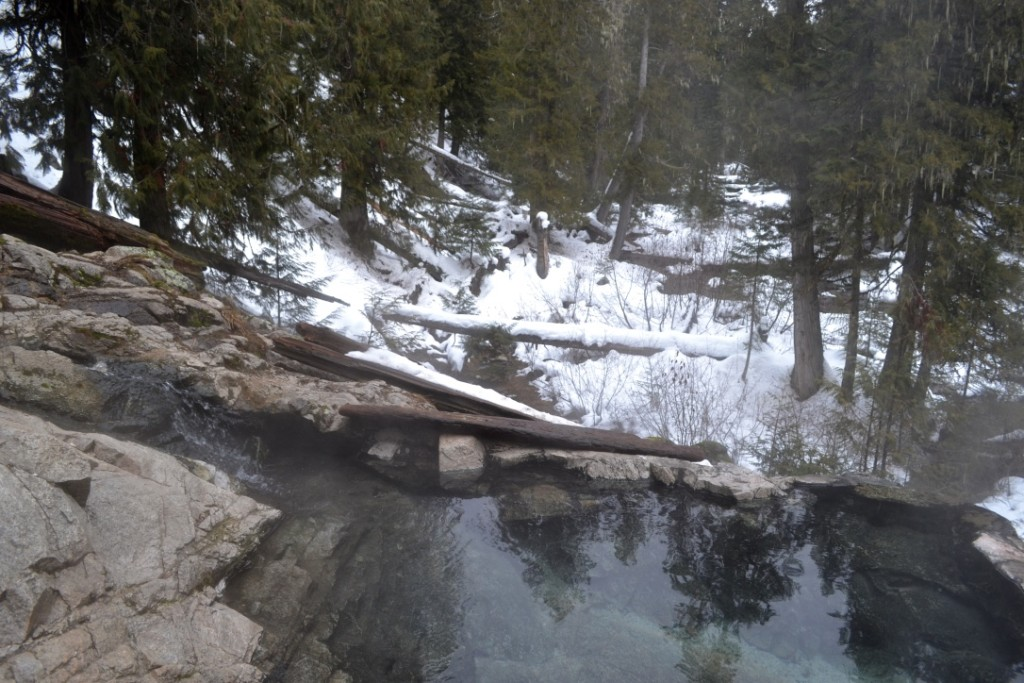 Fantastic spot for a warm dip in the middle of the snow!